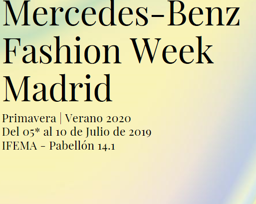 Calendario Ifema 2020.Mbfw Madrid